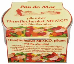 Pan do Mar Pikanter Thunfischsalat Mexico mit Bio-Gemüse 6x250g