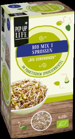 PepUpLife Sprossenbeutel Bio MIX1 - Die Lebenidigen, zum selber ziehen ohne Geräte, 4x20g 10x80g