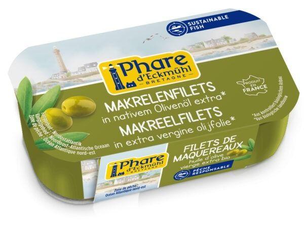 Phare d´Eckmühl Makrelenfilets mit Olivenöl 12x118g