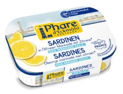 Phare d´Eckmühl Sardinen MSC in ölfreier Marinade mit Zitrone, mit reduziertem Salzgehalt 13x115g