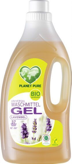 Planet Pure Bio Universal Waschmittel Gel Lavendel 6x1,5l