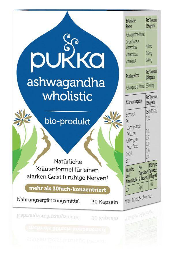 Pukka Ashwagandha Wholistic 30 Vegetarische Kapseln Bio 18g