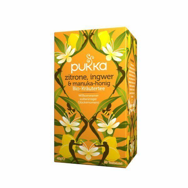 Pukka Bio Tee Zitrone, Ingwer & Manuka-Honig 40g