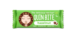 QUIN BITE BIO ORGANIC RAW FRUIT & NUT BAR HAZELNUT 12x30g