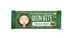 QUIN BITE BIO ORGANIC RAW FRIUT & NUT BAR CHOCO MINT 12x30g