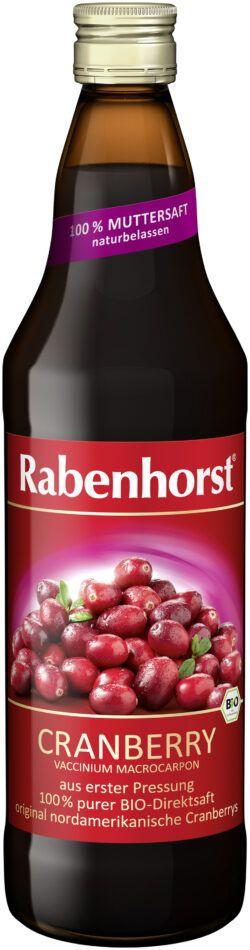 Rabenhorst Cranberry Muttersaft Bio 6x750ml