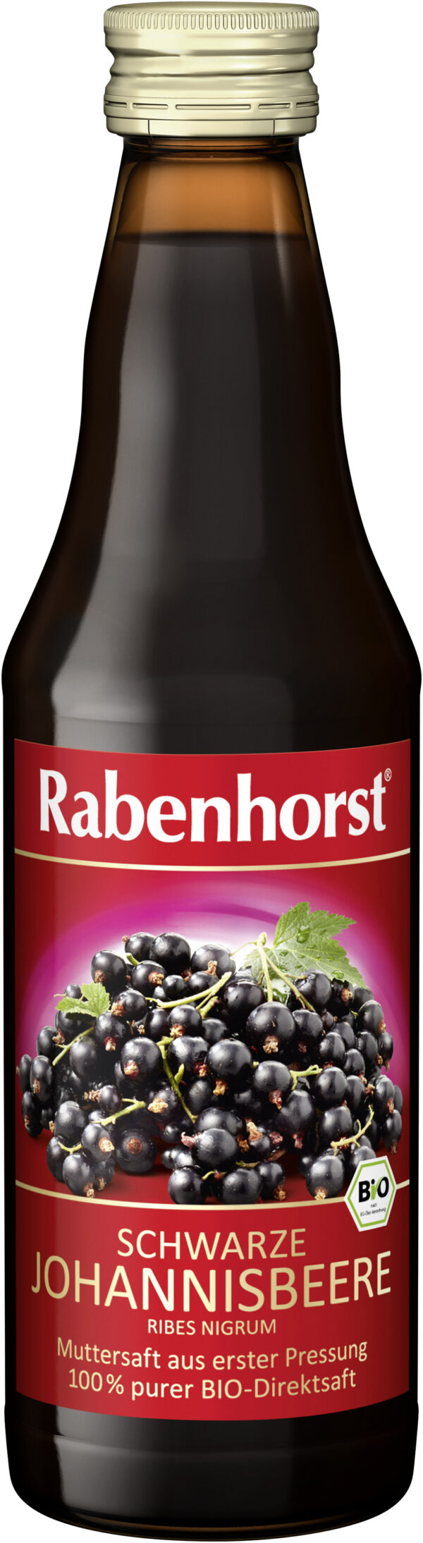Rabenhorst Schwarzer Johannisbeer Muttersaft BIO 6x330ml