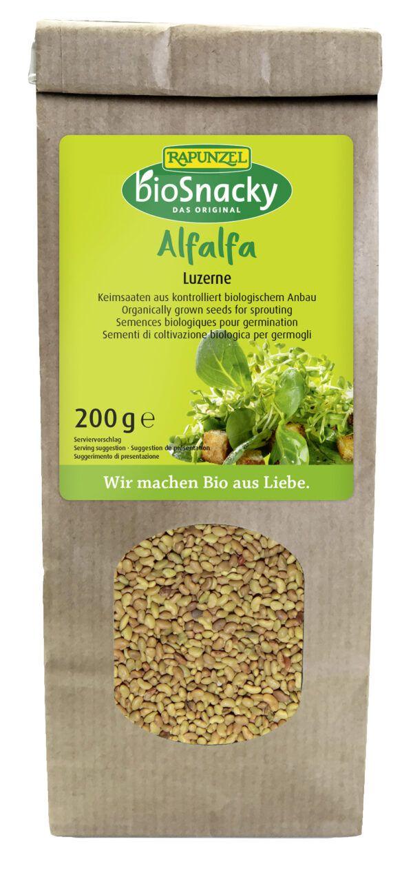 Rapunzel Alfalfa Luzerne bioSnacky 4x200g