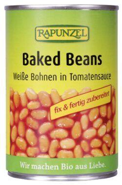 Rapunzel Baked Beans in der Dose, weiße Bohnen in Tomatensauce 6x400g