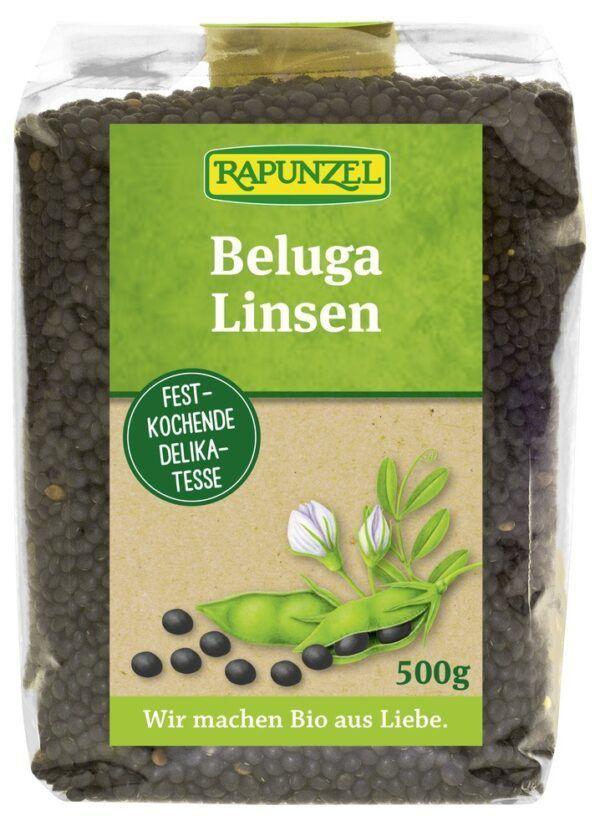 Rapunzel Beluga Linsen schwarz 6x500g