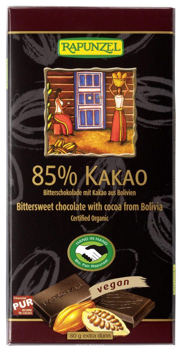 Rapunzel Bitterschokolade 85% Kakao HIH 80g