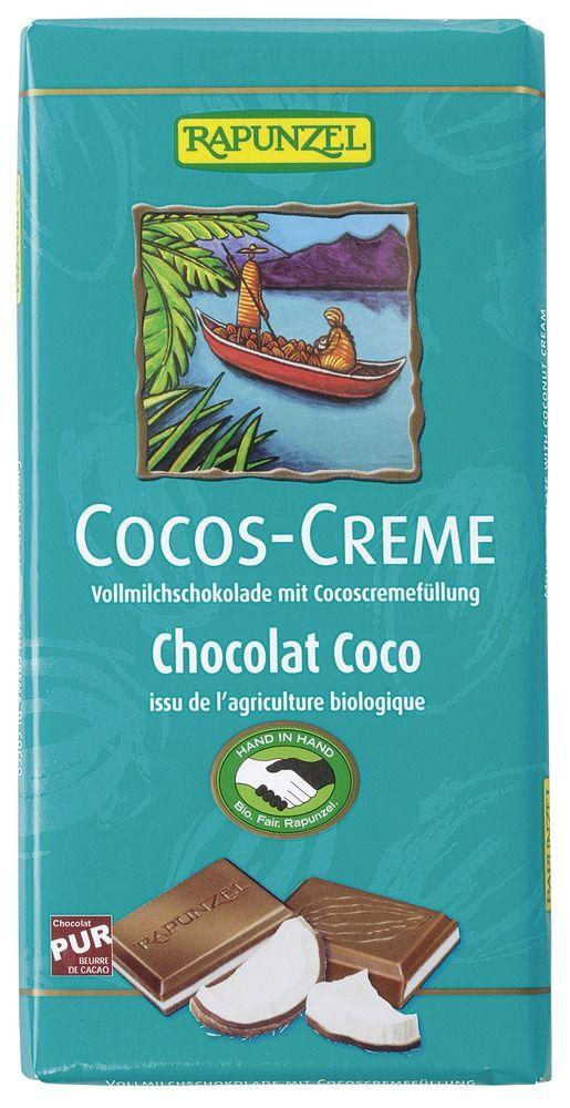 Rapunzel Cocos-Creme Vollmilch Schokolade gefüllt HIH 100g