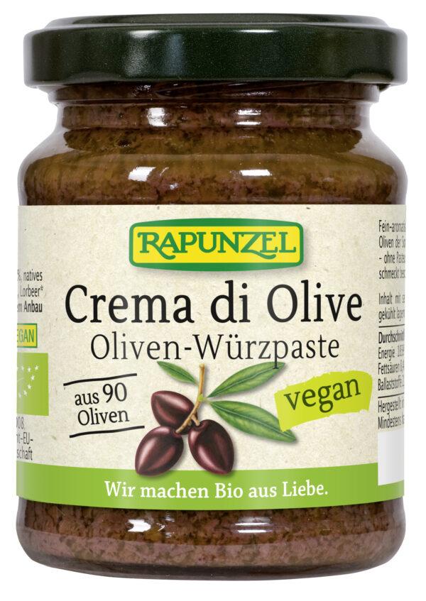 Rapunzel Crema di Olive, Oliven-Würzpaste 120g