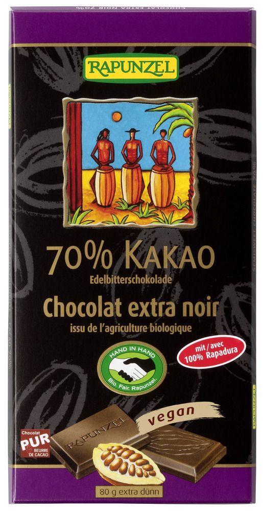 Rapunzel Edelbitter Schokolade 70% Kakao (Rapadura) HIH 80g