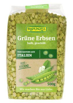 Rapunzel Erbsen grün, halb, geschält 500g