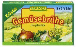 Rapunzel Gemüse-Brühwürfel mit Kräutern, mit Bio-Hefe 12x84g