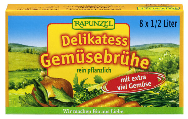 Rapunzel Gemüse-Brühwürfel Delikatess mit 14% Gemüse, mit Bio-Hefe 15x88g