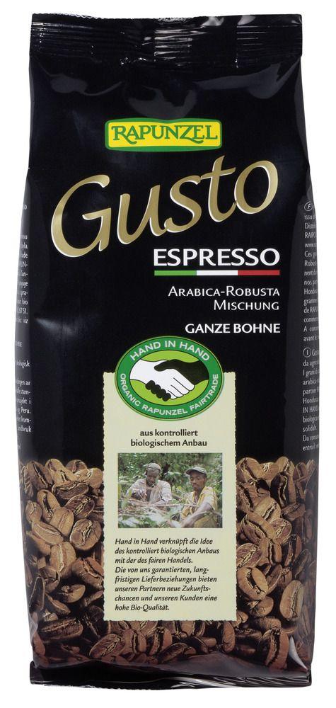 Rapunzel Gusto Espresso all´italiana ganze Bohne HIH 10x250g