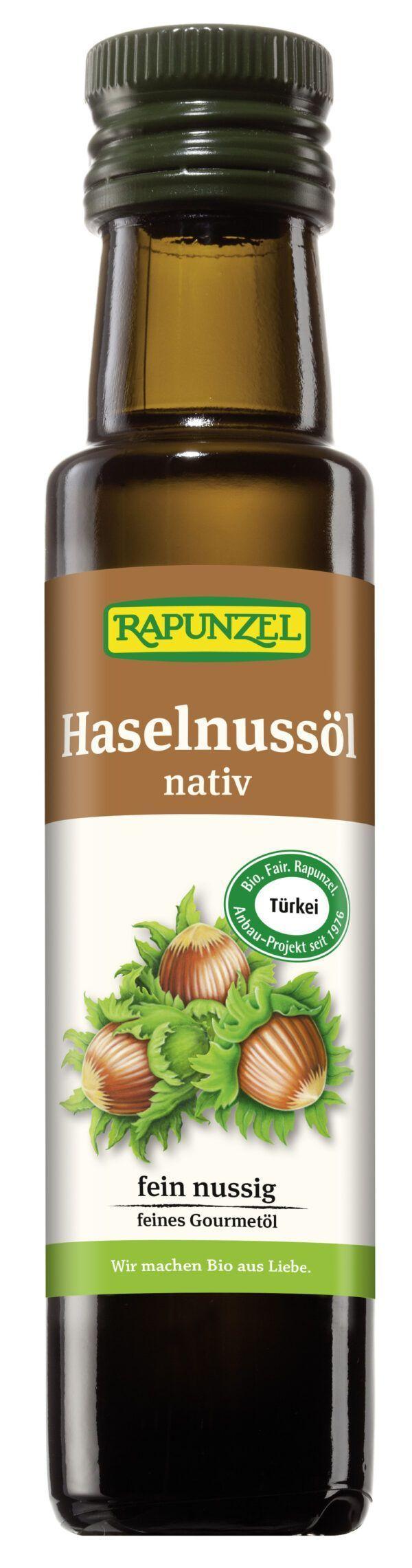 Rapunzel Haselnussöl nativ, Projekt 4x100ml