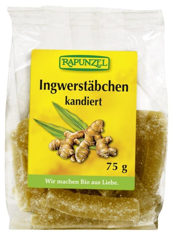 Rapunzel Ingwerstäbchen kandiert 8x75g