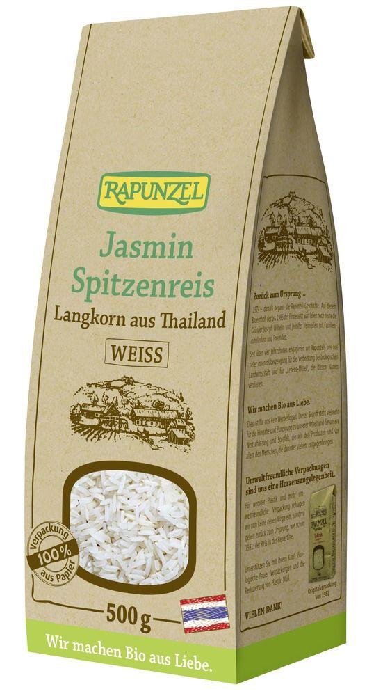Rapunzel Jasmin Spitzenreis Langkorn weiß 6x500g