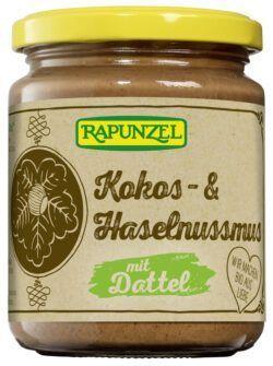 Rapunzel Kokos- & Haselnussmus mit Dattel 6x250g
