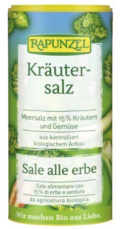 Rapunzel Kräutersalz mit 15% Kräutern & Gemüse 12x125g