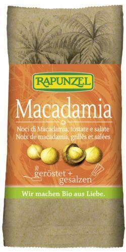Rapunzel Macadamia Nusskerne geröstet, gesalzen 10x50g