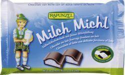 Rapunzel Milch Michl Schokolade mit Milchfüllung HIH 100g