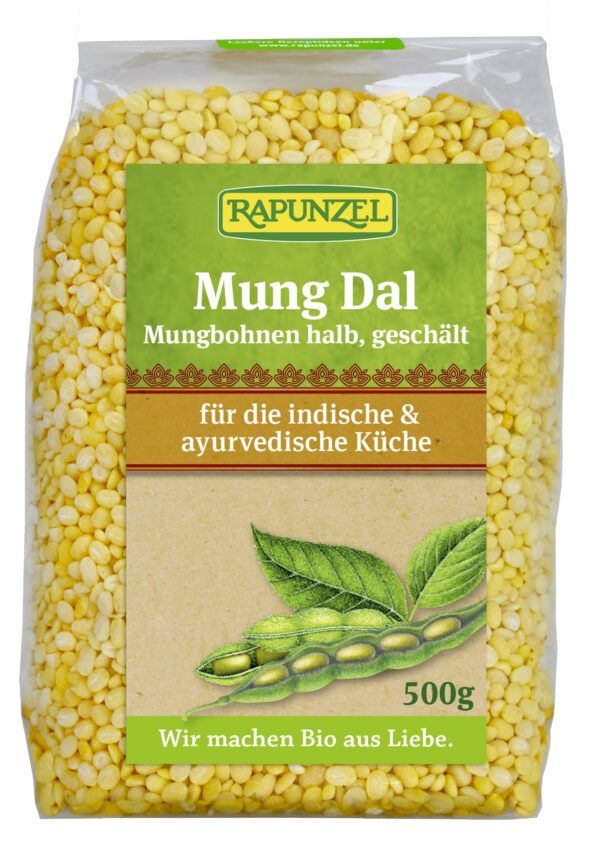Rapunzel Mung Dal, Mungbohnen halb, geschält 6x500g