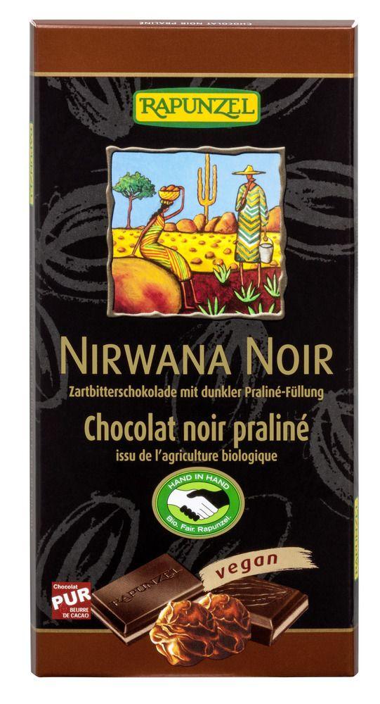 Rapunzel Nirwana Noir 55% mit dunkler Praliné-Füllung HIH 12x100g