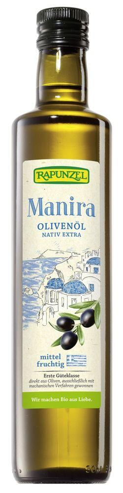 Rapunzel Olivenöl Manira, nativ extra 6x0,5l