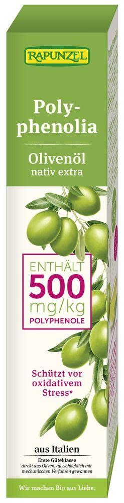 Rapunzel Olivenöl Polyphenolia, nativ extra 4x250ml