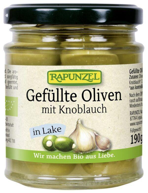 Rapunzel Oliven grün, gefüllt mit Knoblauch in Lake 6x190g