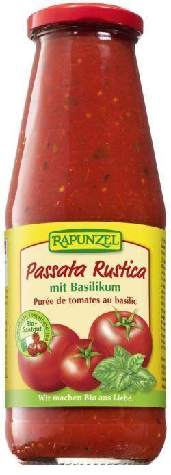 Rapunzel Passata Rustica mit Basilikum 680g