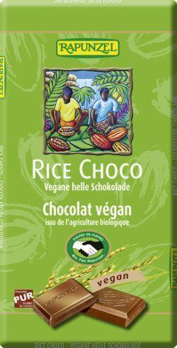 Rapunzel Rice Choco vegane helle Schokolade HIH 12x100g