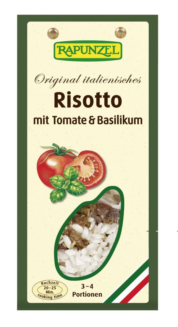 Rapunzel Risotto mit Tomaten und Basilikum 250g