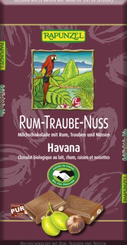 Rapunzel Rum-Trauben-Nuss-Vollmilch Schokolade HIH 100g