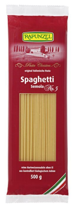 Rapunzel Spaghetti Semola, no.5 500g