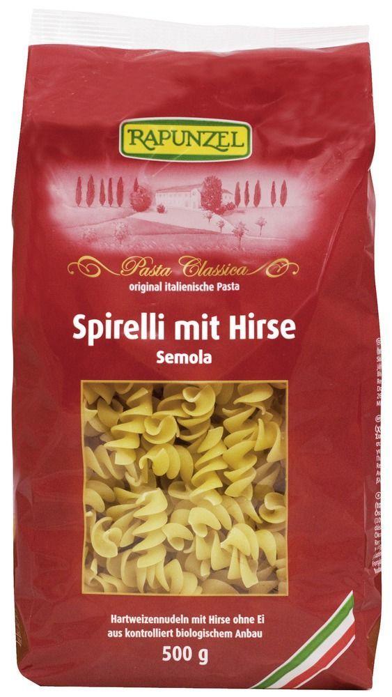 Rapunzel Spirelli mit Hirse Semola 12x500g