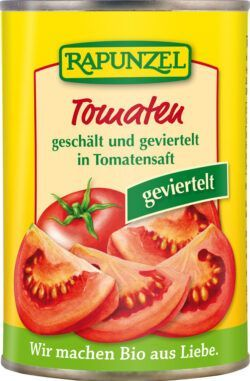 Rapunzel Tomaten geschält und geviertelt in der Dose 6x400g