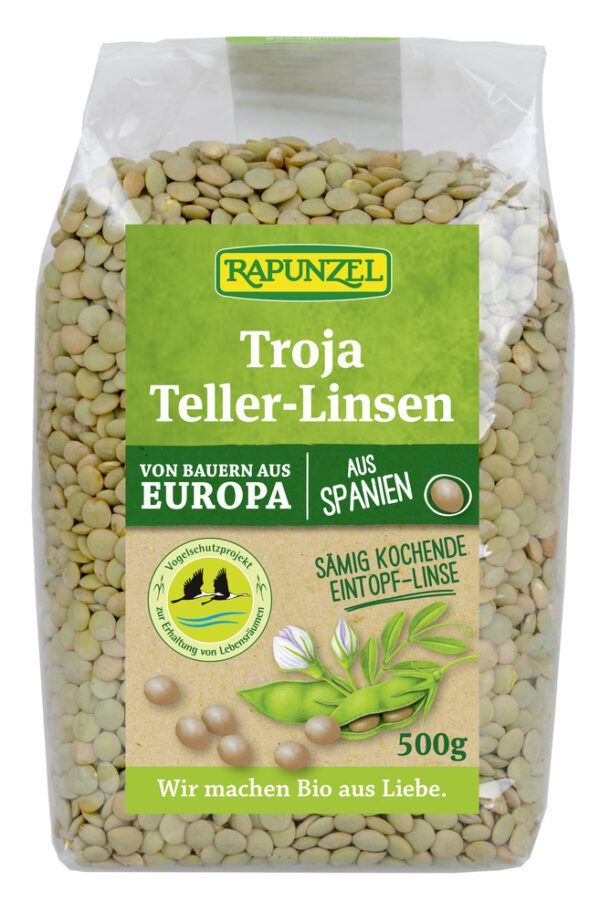 Rapunzel Troja Teller-Linsen (grün bis braun) 500g