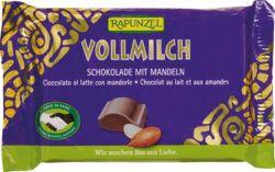 Rapunzel Vollmilch Schokolade mit ganzen Mandeln HIH 100g