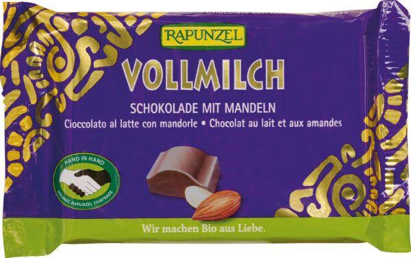 Rapunzel Vollmilch Schokolade mit ganzen Mandeln HIH 12x100g