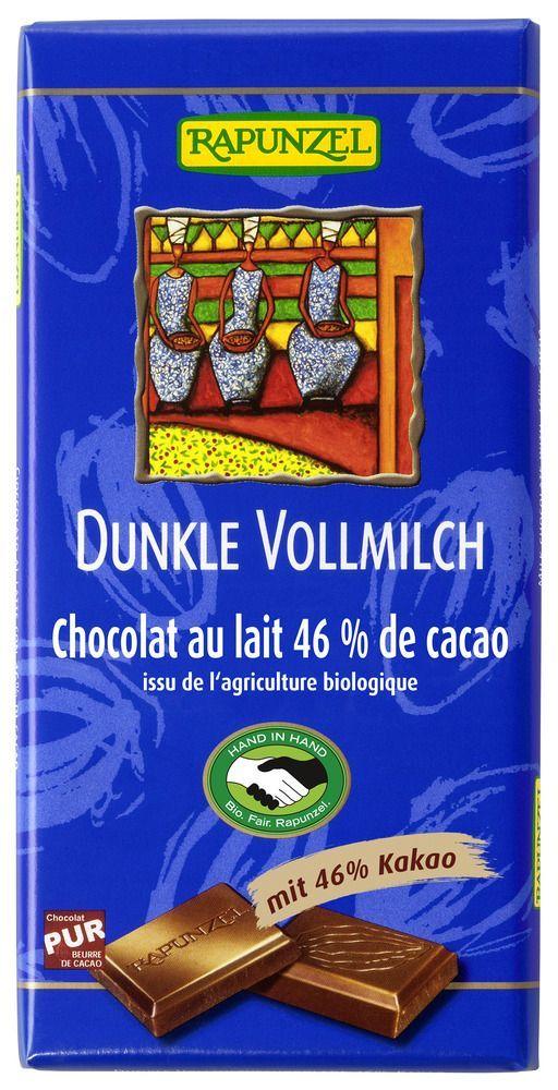 Rapunzel Vollmilch Schokolade Dunkel 46% HIH 12x100g