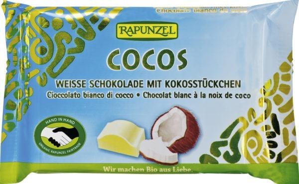 Rapunzel Weiße Cocos Schokolade mit Kokosstückchen HIH 100g