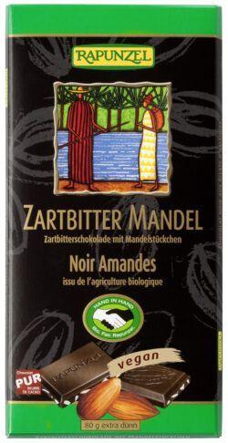 Rapunzel Zartbitter Schokolade mit Mandelstückchen 55% HIH 12x80g