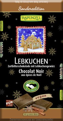 Rapunzel Zartbitterschokolade mit Lebkuchengewürz HIH 12x80g