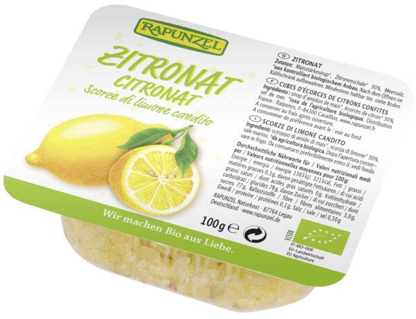 Rapunzel Zitronat ohne Weißzucker, gewürfelt 100g