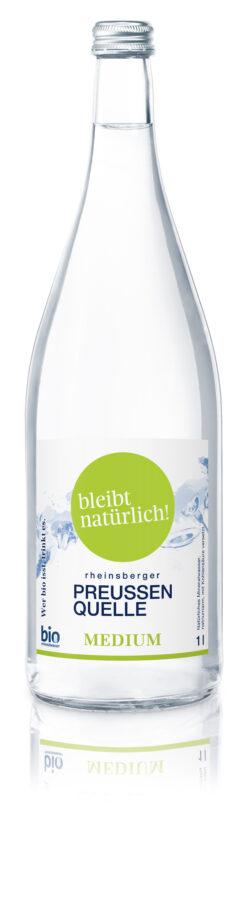 Rheinsberger PreussenQuelle bleibt natürlich - Bio Mineralwasser medium 6x1l